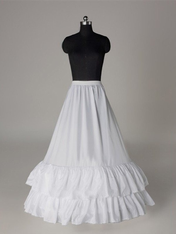 Nice Nylon A-Line 1 Tier Floor Length Slip Style/Wedding Petticoats